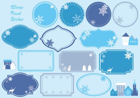 Winter label sticker