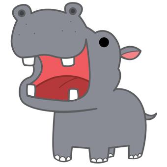 Animal illustration-hippopotamus