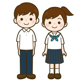 Junior high school student summer clothes