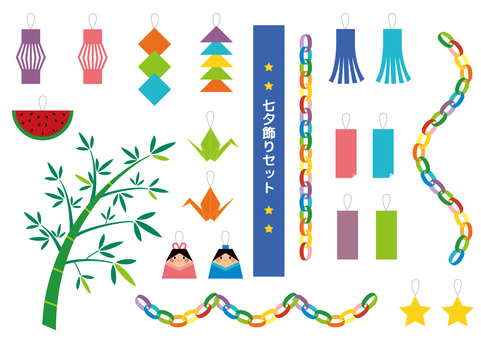 Tanabata decoration set