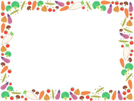 Various vegetable frame