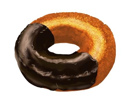Old fashion donut (chocolate)