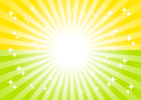 노란색과 녹색 광선 반짝 배경 소재