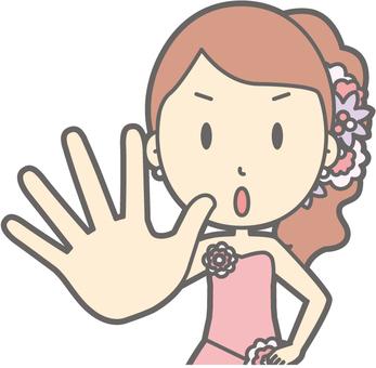 Bridegroom pink - dame - bust