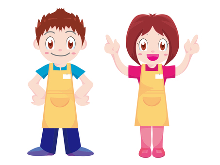 Clerk man and woman staff