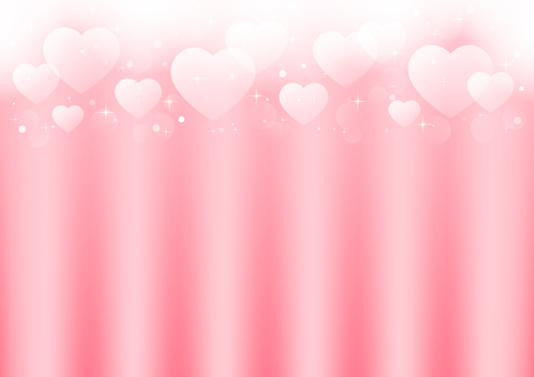 Background Curtain-like heart glow