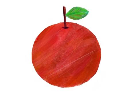 Pastel-style apple