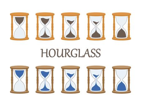 Hourglass set color