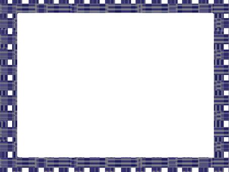 Pattern check frame (navy)