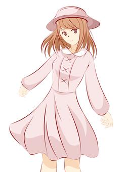 女孩紫色禮服