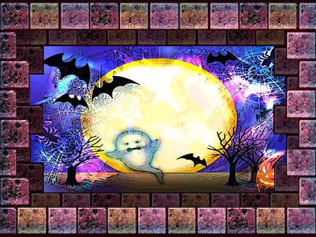 Halloween Horror Night Brick Frame
