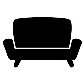 Sofa icon monochrome
