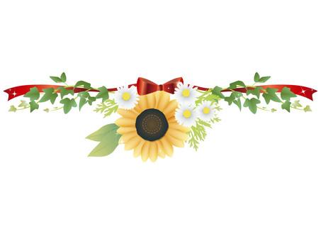On the sunflower frame