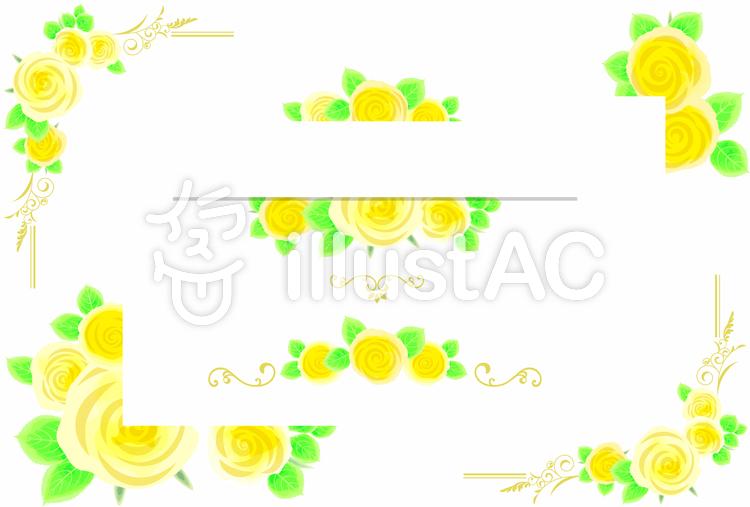 バラの飾り枠02のイラスト