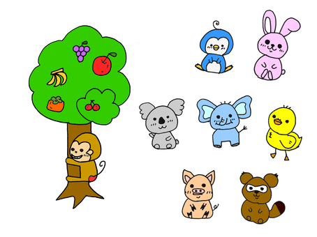 Handwritten illustration cute animals ①