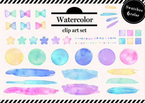 Watercolor material 050 texture set