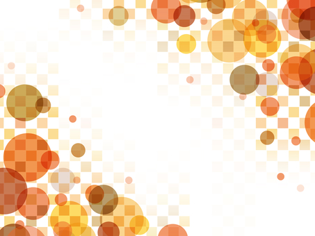 "Bubble checker frame ""Orange"""