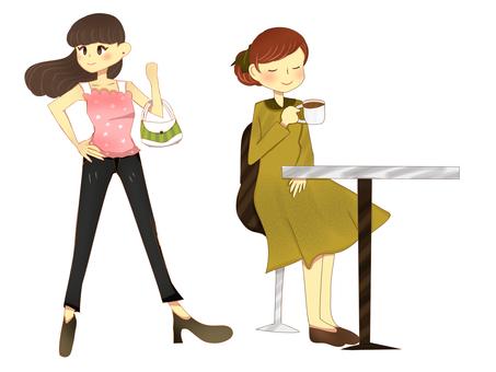 Fashionable women