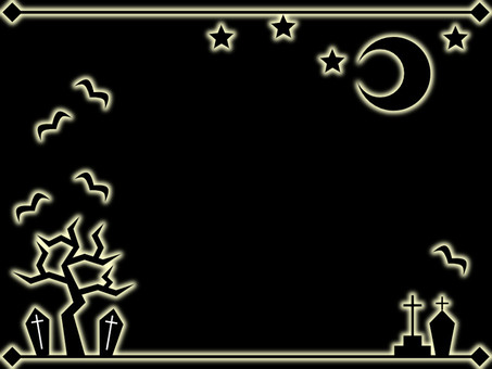 Halloween decorative frame 2 (black) Black background