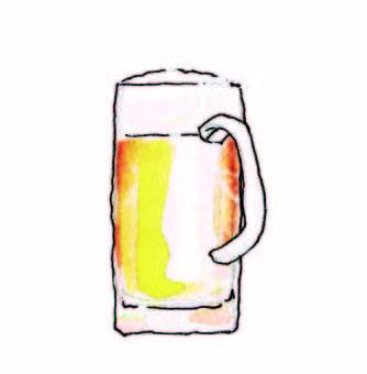 Beer mug watercolor