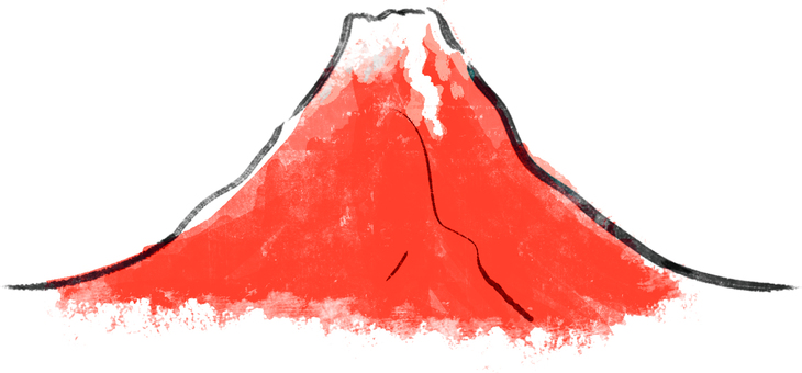 New Year ● Red Fuji
