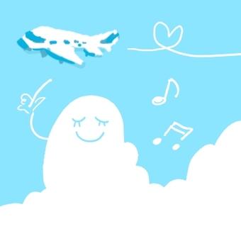 비행 항공기 구름