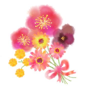 Bouquet such as Gerbera