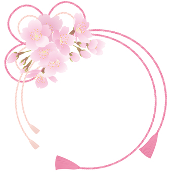벚꽃의 장식 끈 프레임