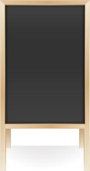 Wooden menu board · beige · portrait
