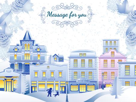 街灯りのメッセージカード