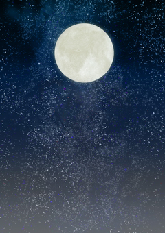 Space wallpaper full moon ⑥