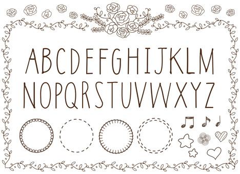 Handwritten font Alphabet Roman alphabet