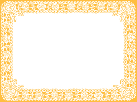 Rose frame of roses (Orange)