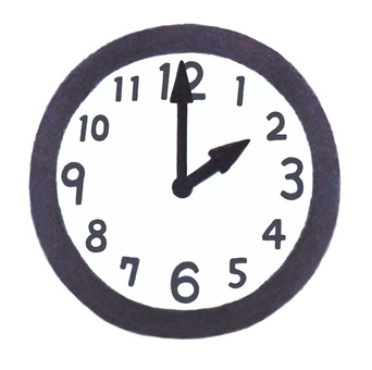 Clock pointing to 2 o'clock