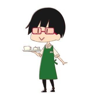 Cafe clerk