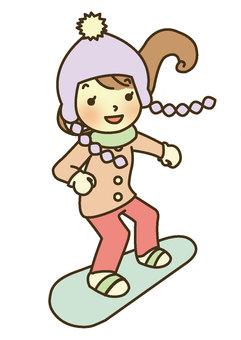 Snowboarding (no background)