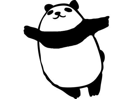 Cut Panda to spread both hands
