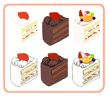 Set of short cakes