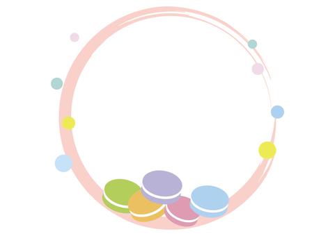 귀여운 마카롱 프레임 (원형)