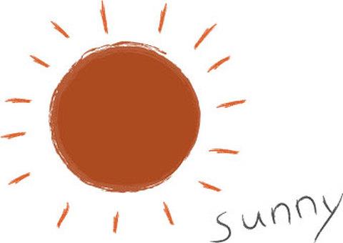 Sunny day-sun-text