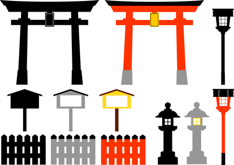 Shrine torii lantern lantern