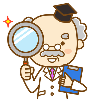 Doctor using a magnifying glass