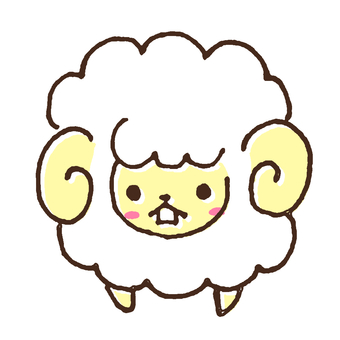 Illustration of cute sheep