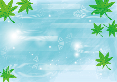 Background _ and wave line _ green ai