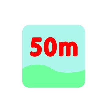 50 m pool icon