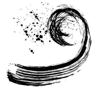 Calligraphy wave splashing illustrations