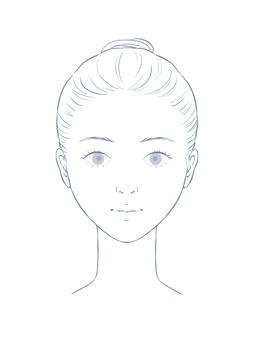 Female face model line