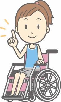 Sports women b - Wheelchair pointing - whole body