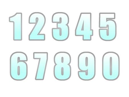 숫자 실버 그라데이션