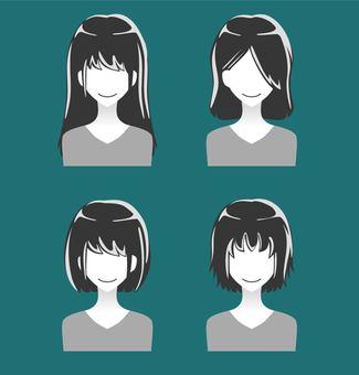 People Silhouette icon · Women (monochrome)
